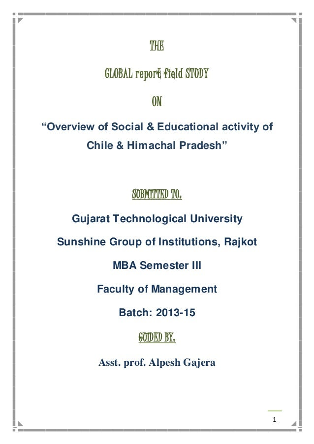 1 THE GLOBAL Report Field STUDY ON U201cOverview Of Social U0026 Educational  Activity Of Chile ...