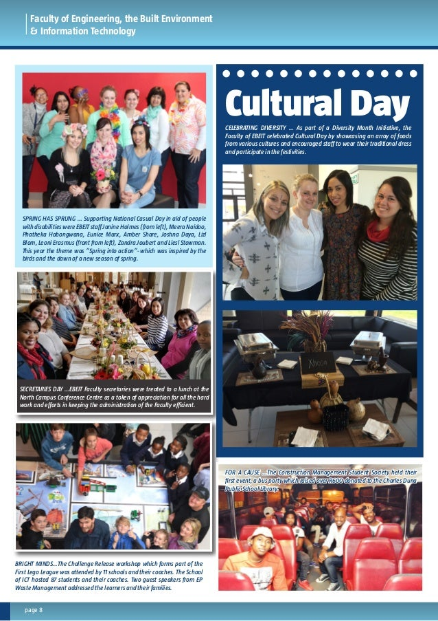 page 8 Faculty of Engineering, the Built Environment & Information Technology CELEBRATING DIVERSITY … As part of a Diversi...