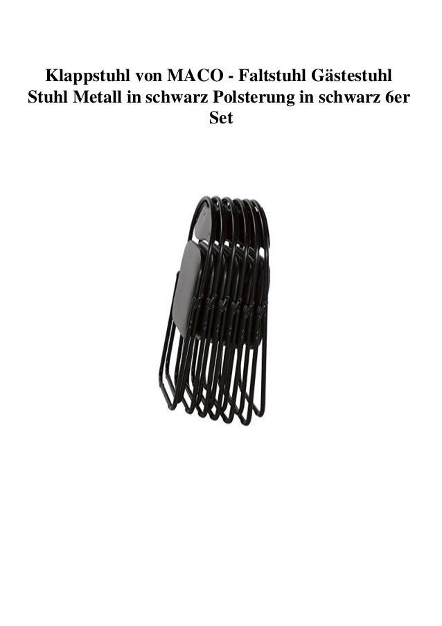 Metall schwarz Stuhl schwarz Polsterung Klappstuhl Stühle CxBQderoEW
