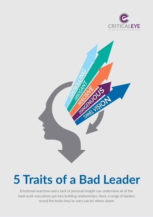 5 traits of a bad leader