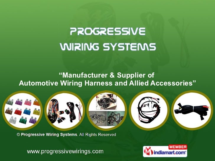 """ Manufacturer & Supplier of  Automotive Wiring Harness and Allied Accessories"""