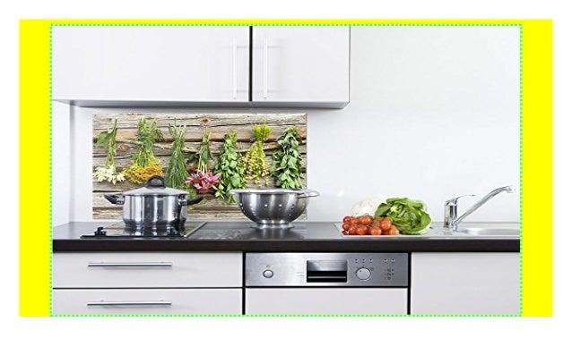 GRAZDesign 200101_100x50_SP Spritzschutz Glas für Küche/Herd ...