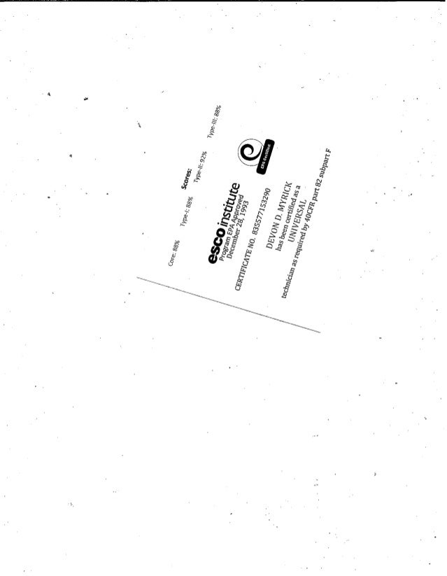 Universal Epa Certification