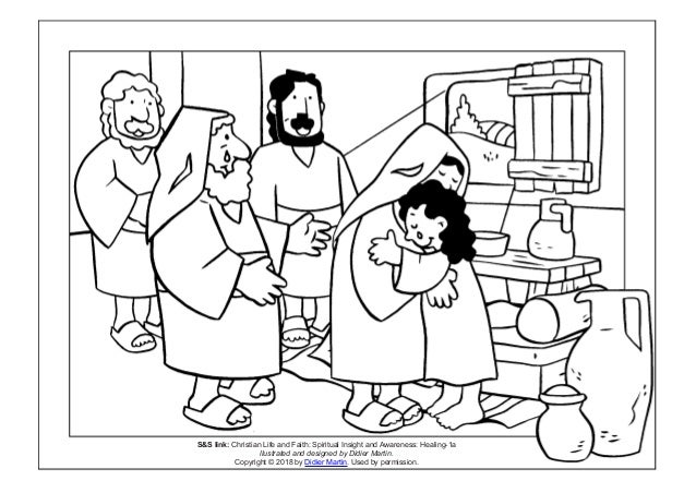 Coloring Page Young People In The Bible Jairus Daughter