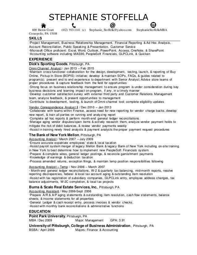STEPHANIE STOFFELLA 600 Heron Court (412) 913-1141 (c) Stephanie_Stoffella@yahoo.com StephanieStoffellaMBA Coraopolis, PA ...