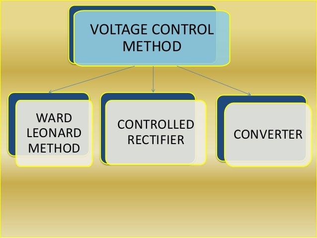 VOLTAGE CONTROL METHOD WARD LEONARD METHOD CONTROLLED RECTIFIER CONVERTER