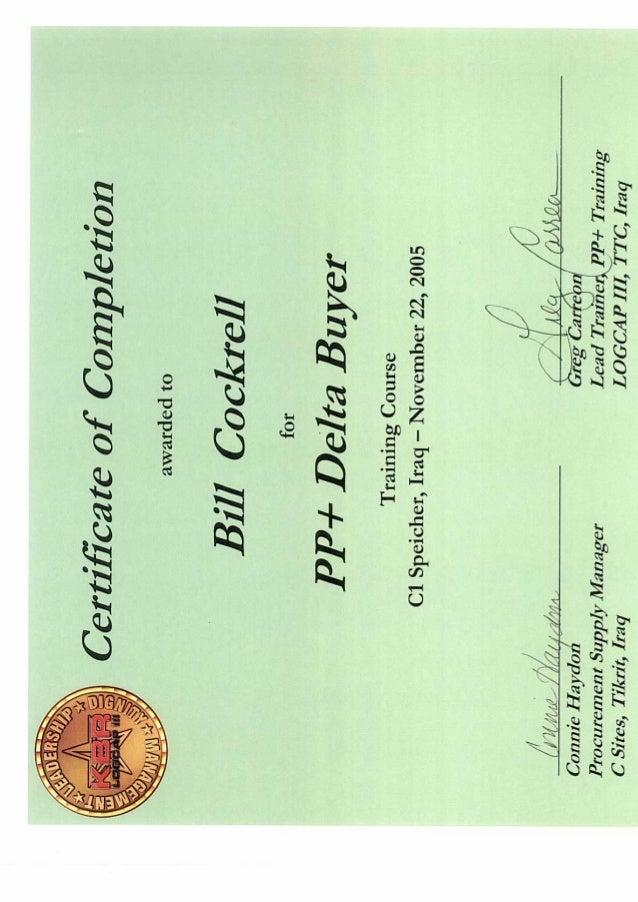 Kbr Pp Delta Buyer Certificate Of Completion