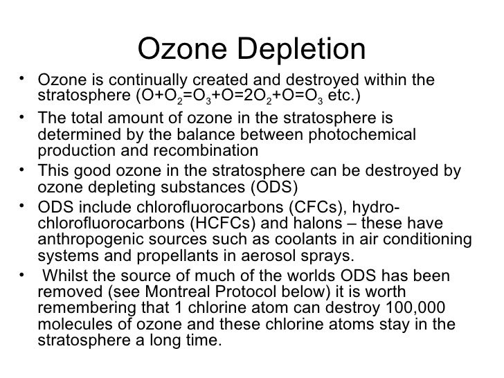 ozone depletion research papers Background many scientists believe the ozone layer in the earth's stratosphere is being depleted due to the use (and release into the atmosphere) of man-made chemicals.