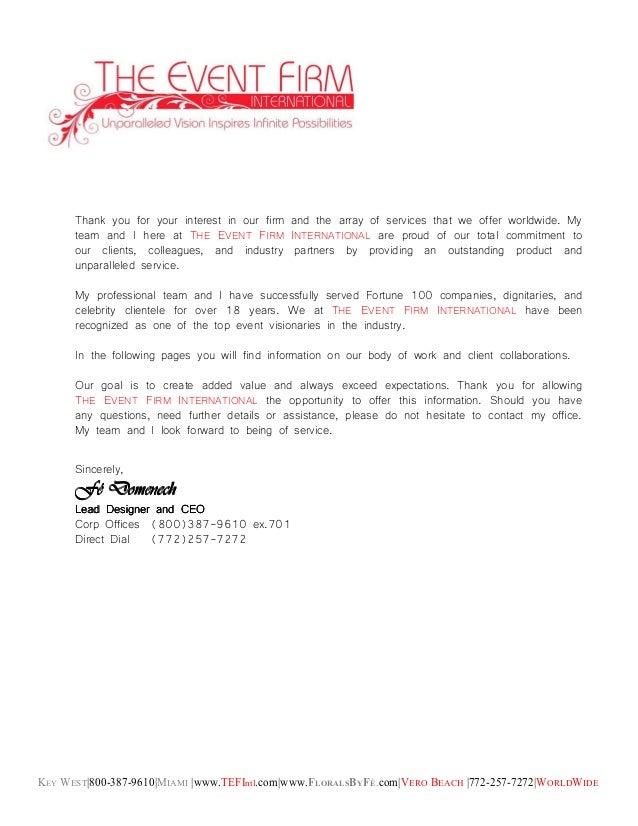 KEY WEST|800-387-9610|MIAMI |www.TEFIntl.com|www.FLORALSBYFÉ.com|VERO BEACH |772-257-7272|WORLDWIDE Thank you for your int...