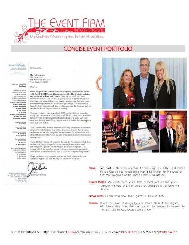 KEY WEST|800-387-9610|MIAMI |www.TEFIntl.com|www.FLORALSBYFÉ.com|VERO BEACH |772-257-7272|WORLDWIDE CONCISE EVENT PORTFOLI...