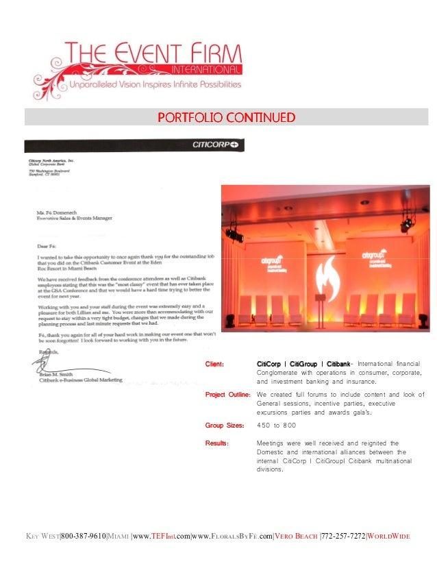 KEY WEST|800-387-9610|MIAMI |www.TEFIntl.com|www.FLORALSBYFÉ.com|VERO BEACH |772-257-7272|WORLDWIDE PORTFOLIO CONTINUEDPOR...