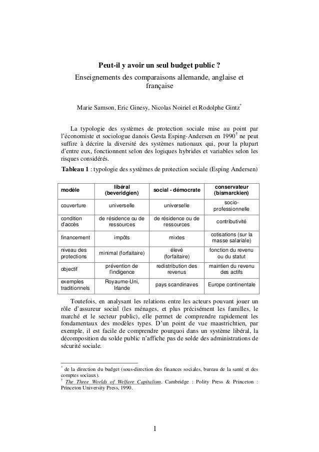 1 Peut-il y avoir un seul budget public ? Enseignements des comparaisons allemande, anglaise et française Marie Samson, Er...