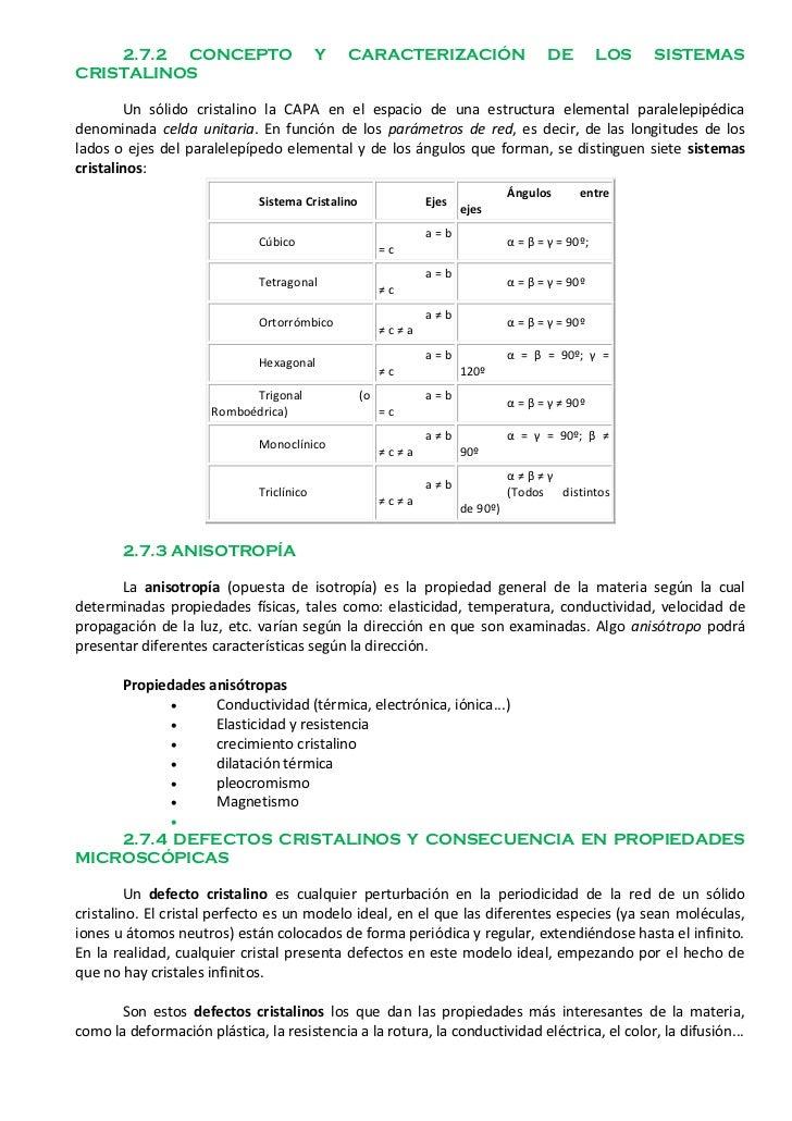 2.7.2 CONCEPTO                         Y   CARACTERIZACIÓN                         DE          LOS   SISTEMASCRISTALINOS  ...