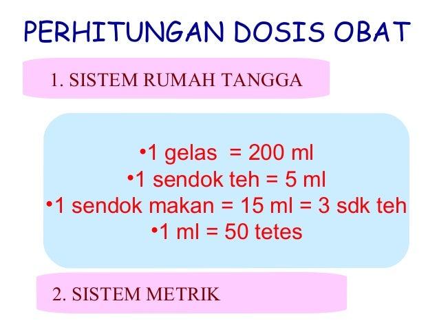 Cara menghitung dosis pemberian obat untuk bayi dan anak - anak