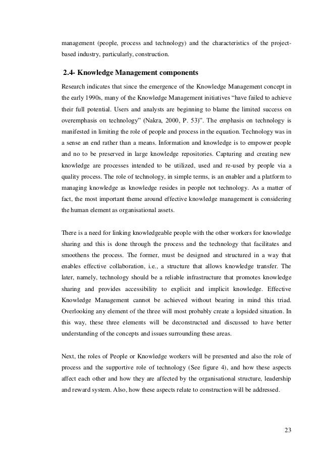 knowledge management in sm es essay Knowledge management (km) is the process of creating, sharing, using and managing the knowledge and information of an organisation it refers to a multidisciplinary.