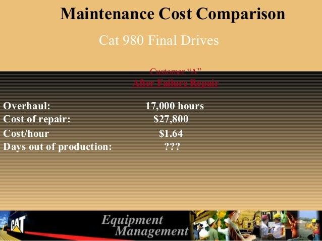 drive train maintenance management