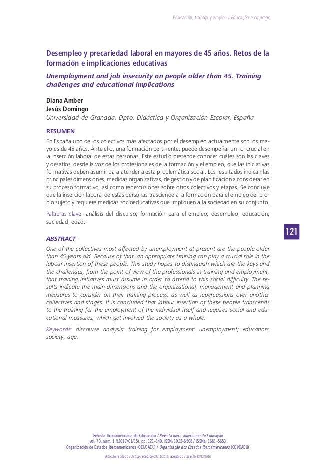 121 Revista Iberoamericana de Educación / Revista Ibero-americana de Educação vol. 73, núm. 1 [(2017/01/15), pp. 121-140, ...