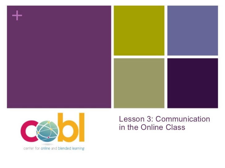 Lesson 3: Communication in the Online Class