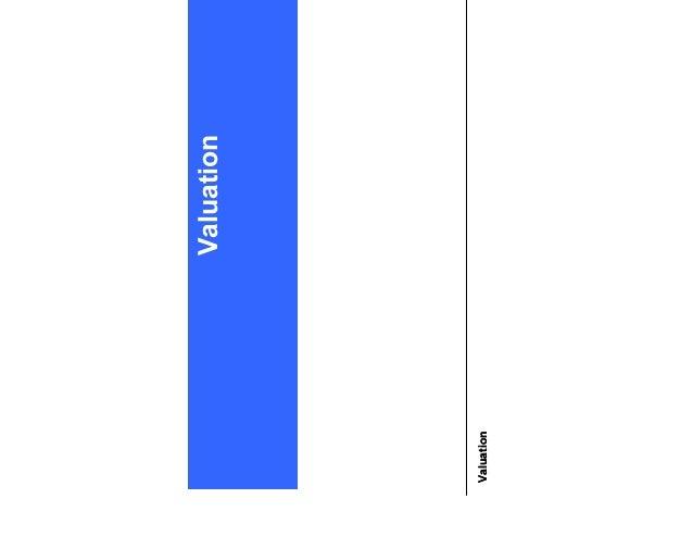 Valuation 1 Valuation Valuation