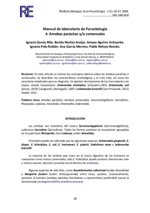 Reduca(Biología).SerieParasitología.1(1):28‐37,2008. ISSN:1989‐3620...