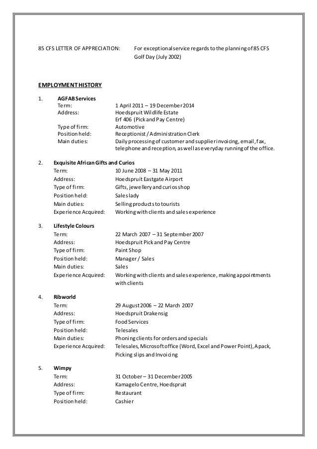 voorbeeld van cv afrikaans CV 12 Julie 2015 sonder Sertifikate voorbeeld van cv afrikaans