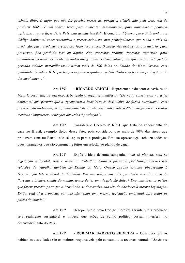 Parecer do relator deputado federal Aldo Rebelo (PcdoB-SP) ao Projeto de Lei nº 1876/99