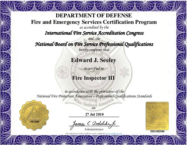 7. Fire Inspector III