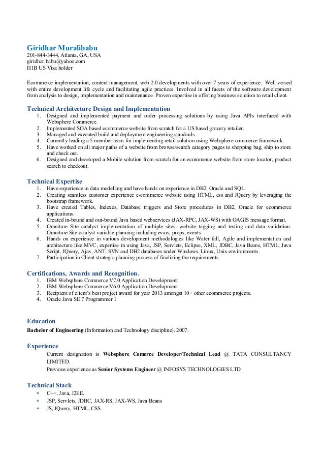 giridhar muralibabu resume