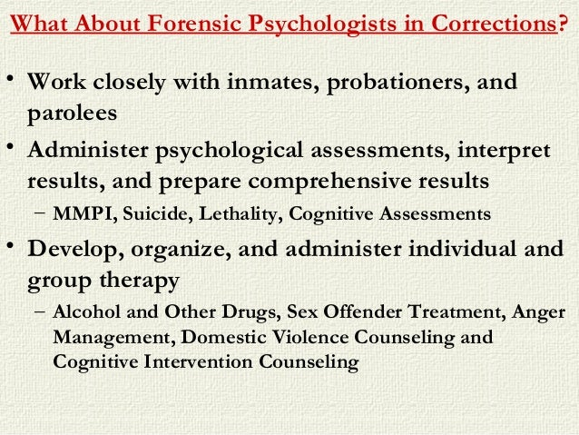 forensic psychology subspecialties