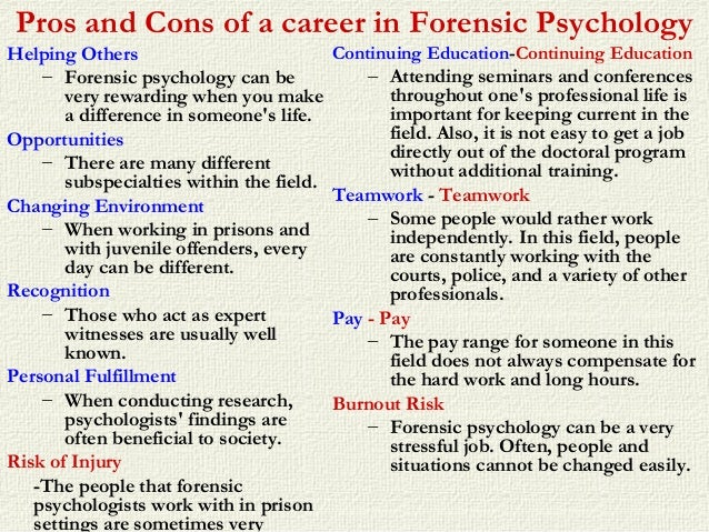 juvenile forensic psychology Internships for forensic psychology students are offered through prisons and juvenile detention centers, research institutes, government programs and medical settings network with professors and professionals in the field.