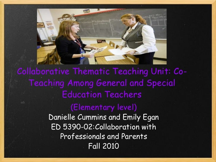 Collaborative Classroom Special Education ~ Collaboration general and special education teachers