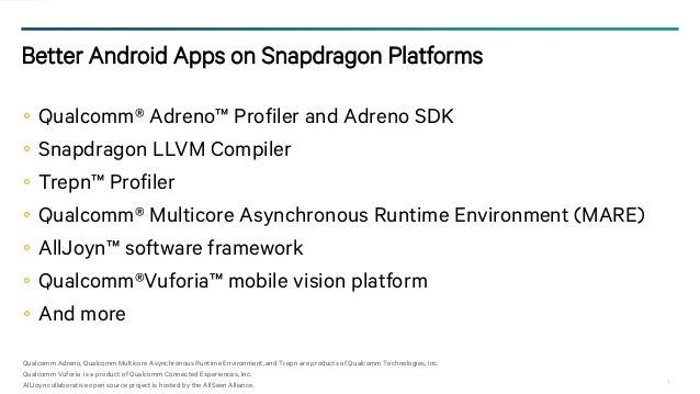 Android Tools for Qualcomm Snapdragon Processors