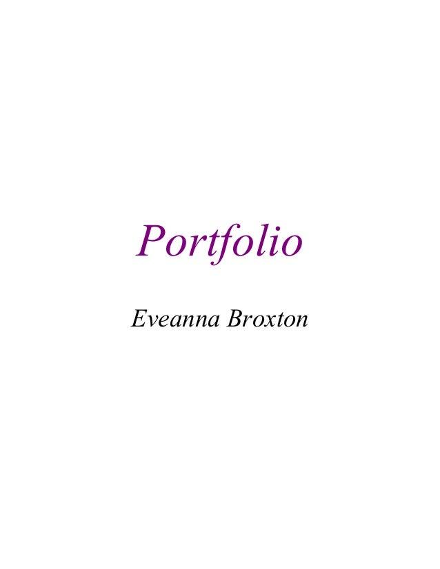 Portfolio Eveanna Broxton
