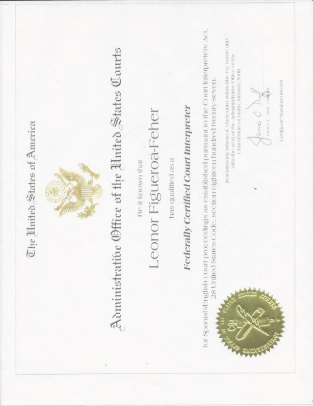 Federal Court Interpreter Certification