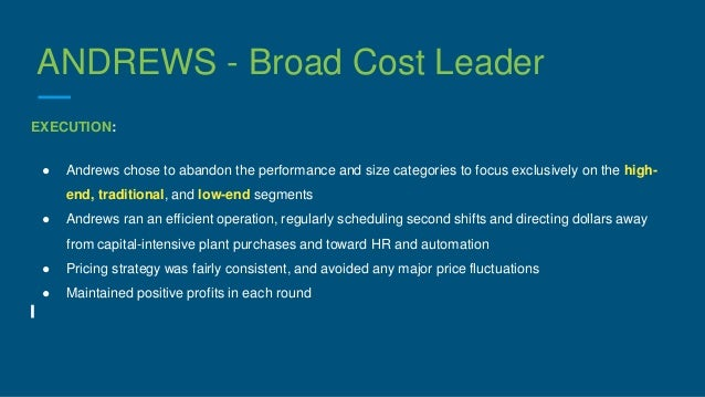 broad cost leadership strategy example