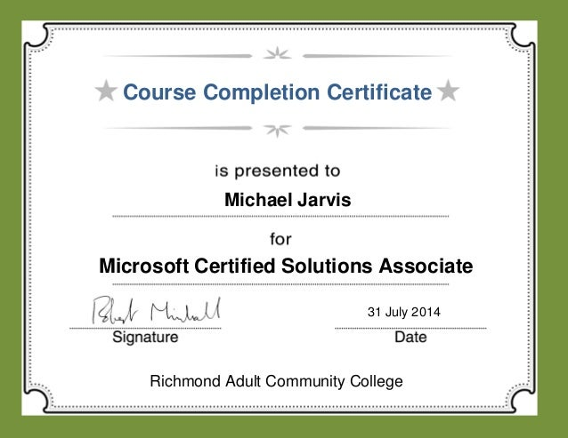 certificate for course completion
