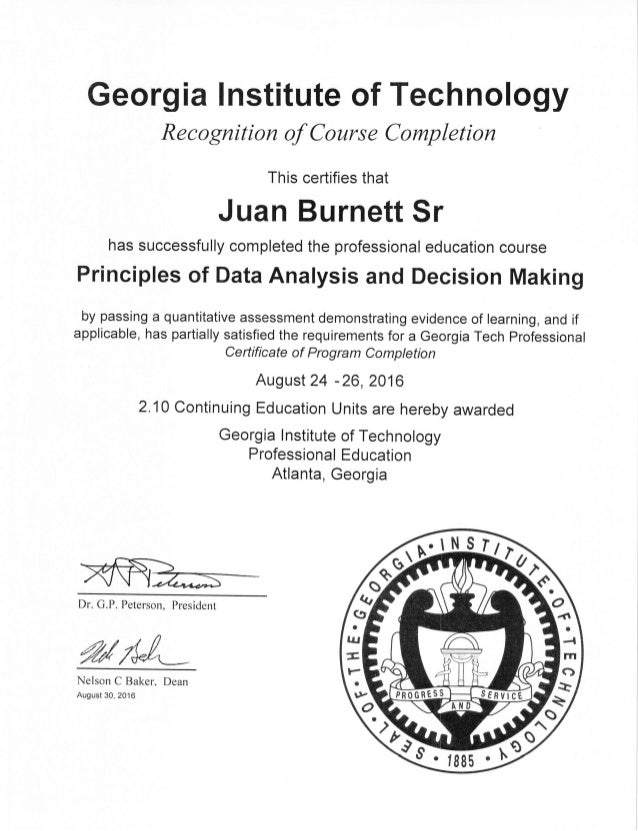 Georgia Tech Blackbelt Certificate