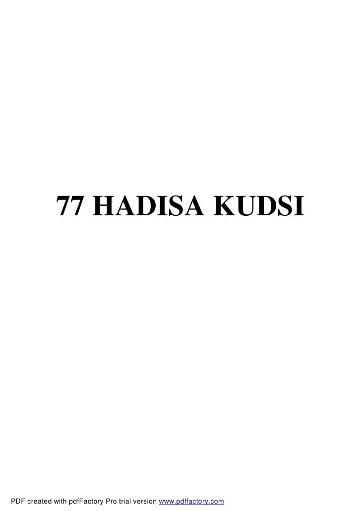 77 HADISA KUDSIPDF created with pdfFactory Pro trial version www.pdffactory.com
