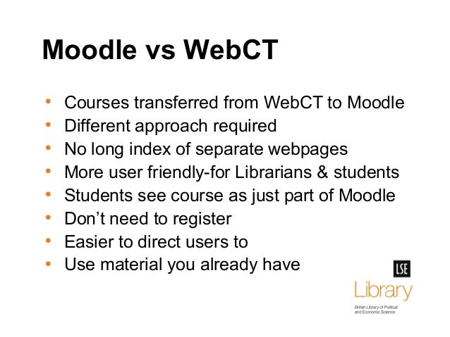 Moodle at LSE Library: bringing information literacy to the