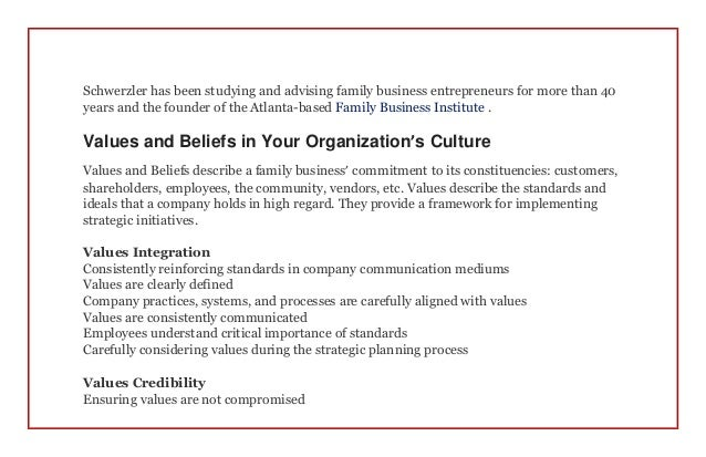 Organizational culture a blueprint for success in a family business 2 malvernweather Choice Image