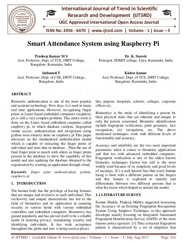 Smart Attendance System using Raspberry Pi