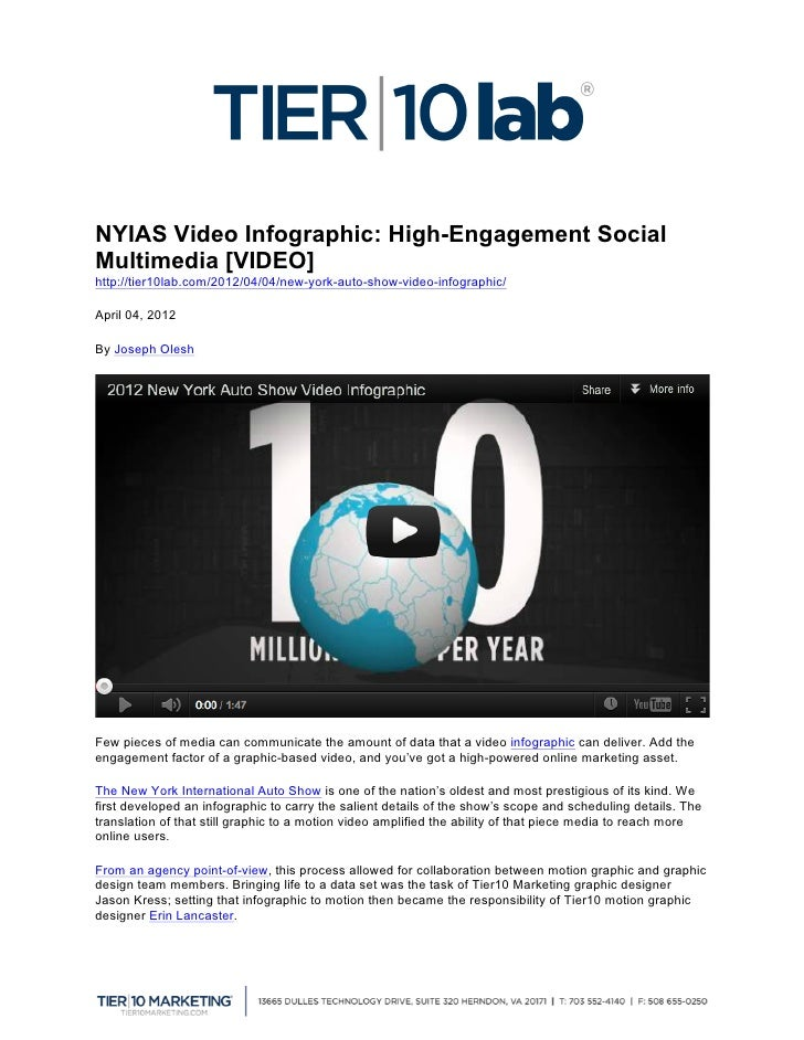 NYIAS Video Infographic: High-Engagement SocialMultimedia [VIDEO]                  http://tier10lab.com/2012/04/04/new-...