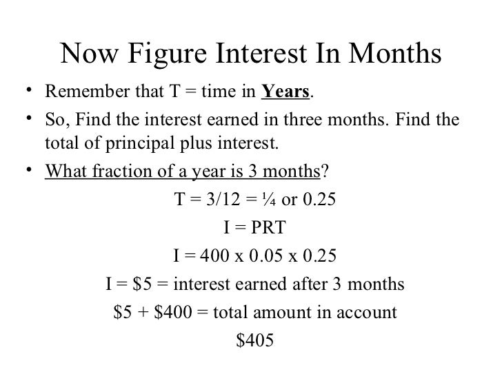 simple interest with months