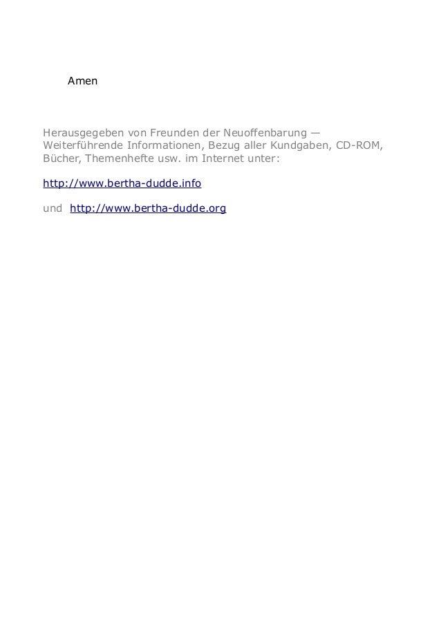 Amen Herausgegeben von Freunden der Neuoffenbarung — Weiterführende Informationen, Bezug aller Kundgaben, CD-ROM, Bücher, ...