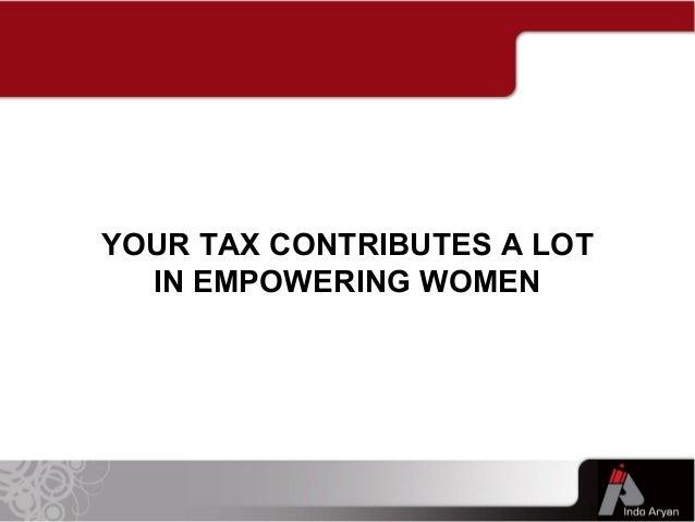 Women Empowerment & Taxation