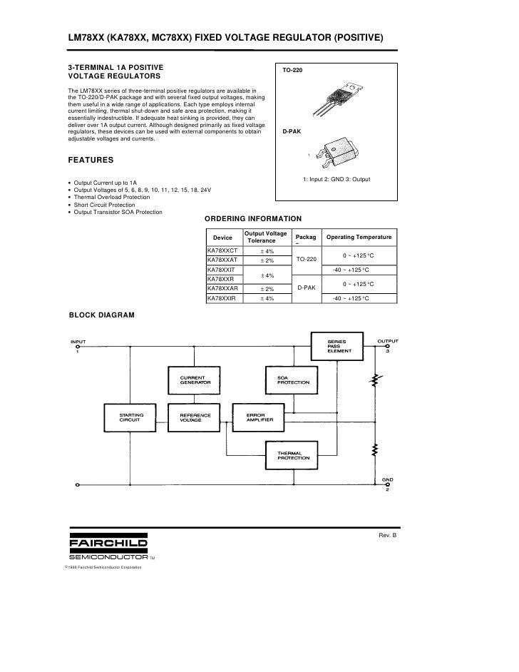 LM78XX (KA78XX, MC78XX) FIXED VOLTAGE REGULATOR (POSITIVE)    3-TERMINAL 1A POSITIVE                                      ...