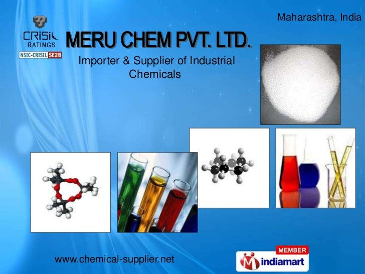 Maharashtra, India    Importer & Supplier of Industrial              Chemicalswww.chemical-supplier.net