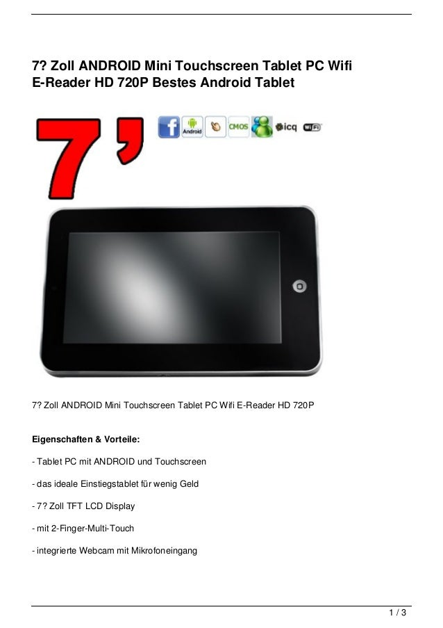 7 zoll android mini touchscreen tablet pc wifi e reader hd 720. Black Bedroom Furniture Sets. Home Design Ideas