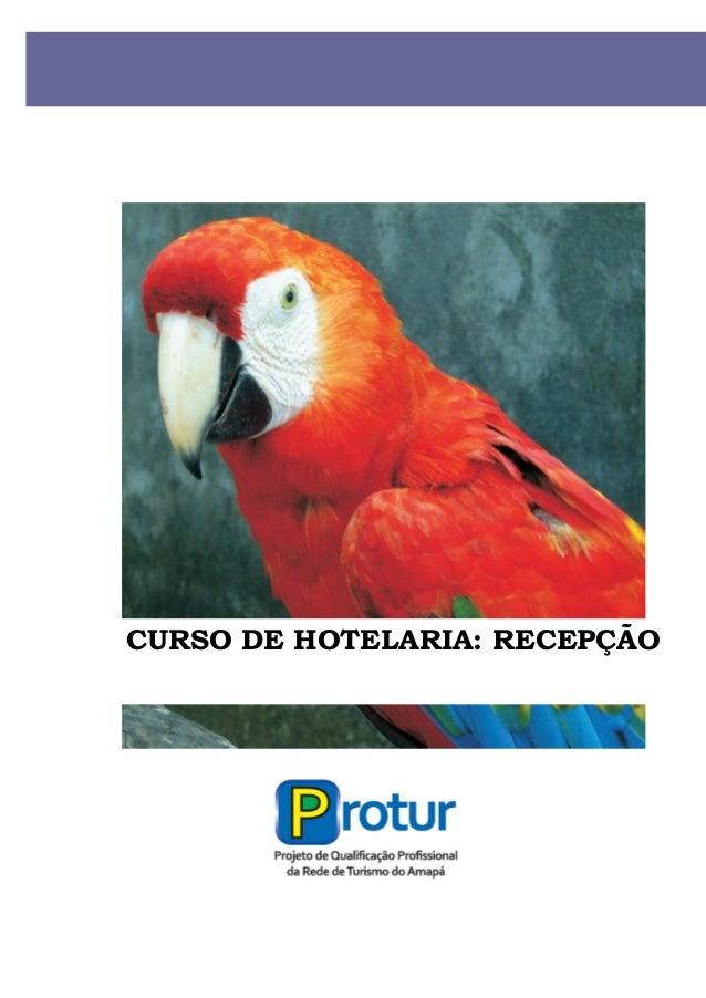 CURSO DE HOTELARIA: RECEPÇÃO