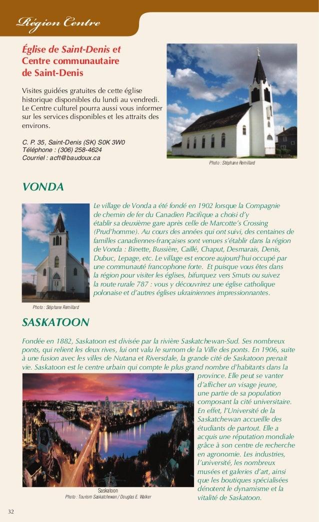 32 Région Centre Église de Saint-Denis et Centre communautaire de Saint-Denis Visites guidées gratuites de cette église hi...